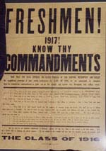1917 poster with freshman commandments
