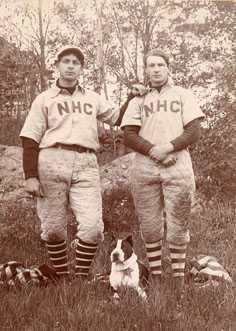 Two NHC baseball players