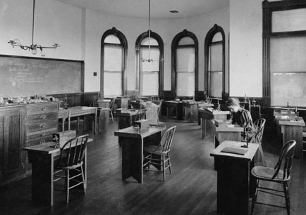 Thompson Hall biology lab classroom