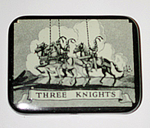Small box with three knights