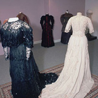 19th century evening gown and wedding dress