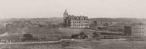 historical panoramic view of campus
