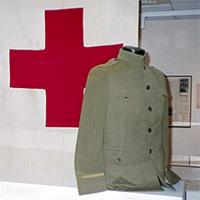 military uniform and red cross symbol