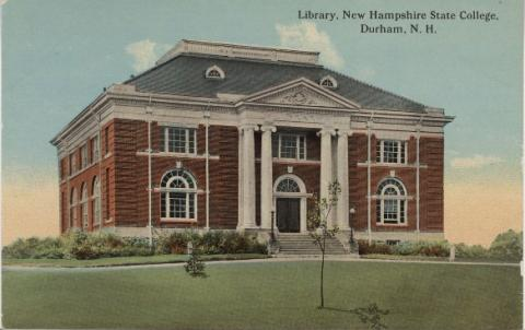 Postcard of Dimond Library