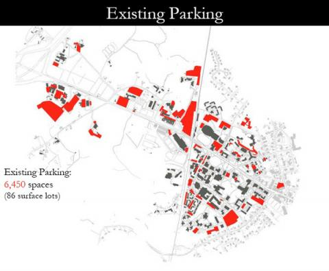 map of campus parking 2003