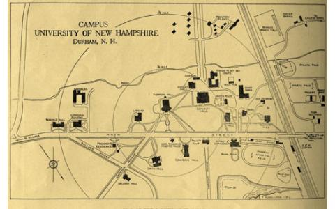 Map of Campus 1924