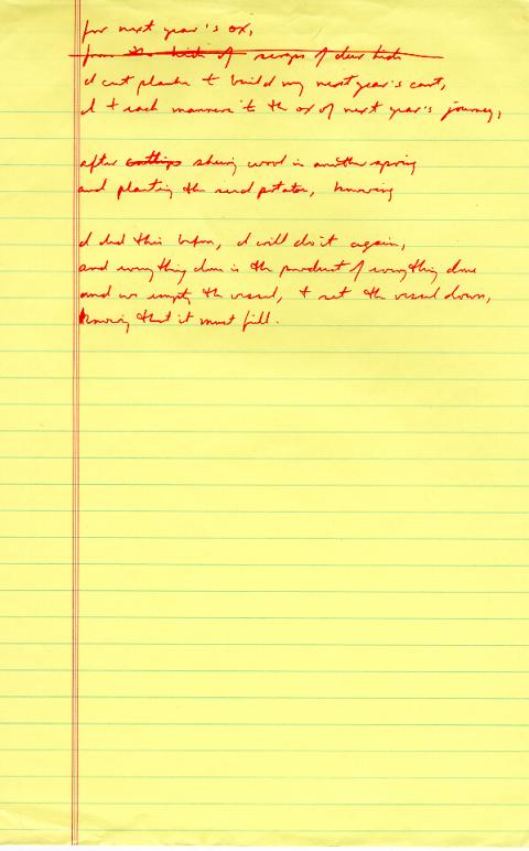 The Ox Cart Man, draft 2, page 2