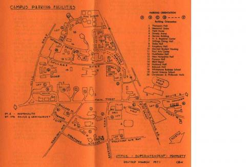 Campus Parking Map, 1976