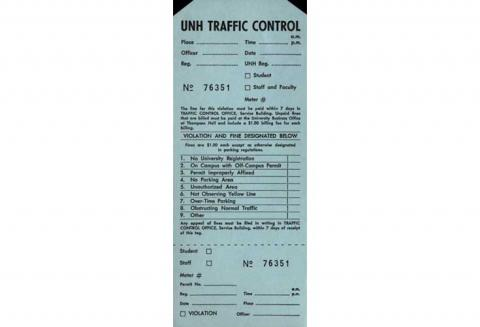 Parking ticket, ca. 1975